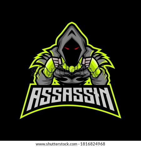 assassin esport mascot logo