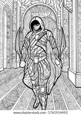 assassin  in a hood and mask