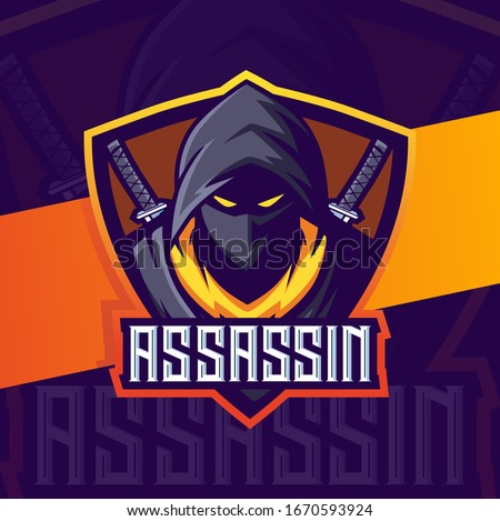 assassin ninja mascot esport