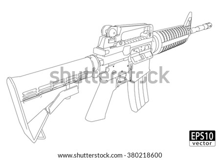 assault gun wireframe  back