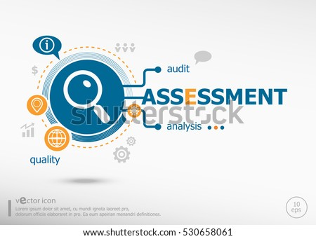 Assessment and marketing concept. Project for web banner and creative process.