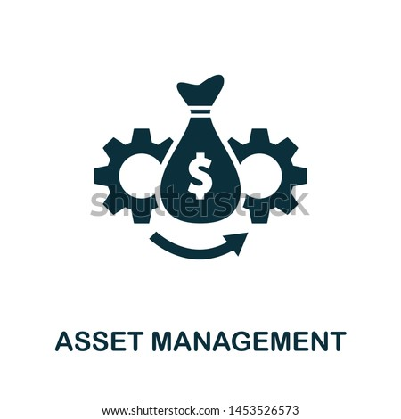 Asset Management vector icon illustration. Creative sign from investment icons collection. Filled flat Asset Management icon for computer and mobile. Symbol, logo vector graphics.