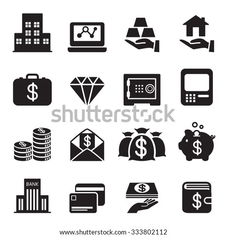 asset / money / Investment icons Set