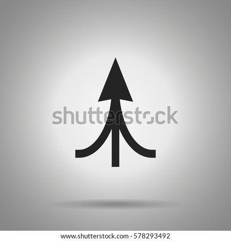 associated arrow icon