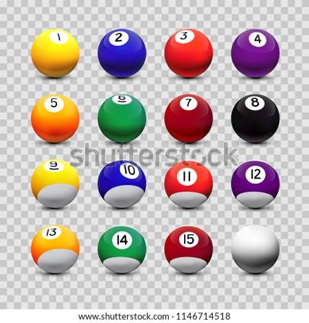 assorted billiard balls