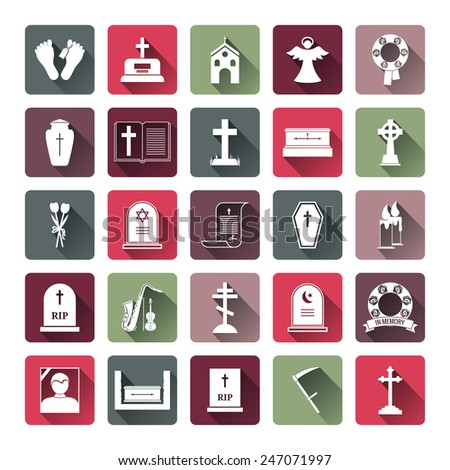 assorted colored funeral icon