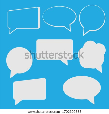 assorted comic chat bubble speaking vector graphic design template