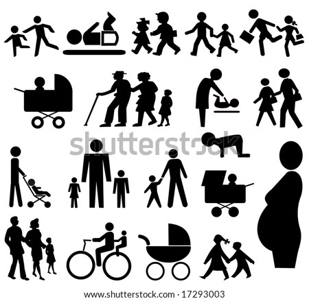 stock vector assorted family silhouettes pram grand parents baby pregnant woman 17293003 gay nipple play amateur pie sex offender registry pinal county.