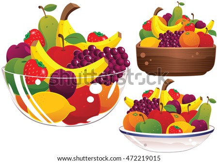 Assorted fruit bowls. Stock photo ©