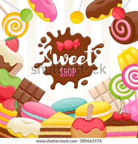 assorted sweets colorful