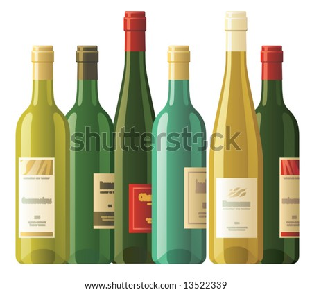 Assorted wine bottles