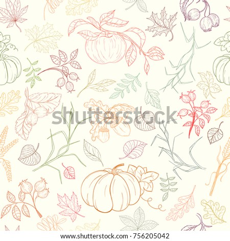 assortment autumn seamless