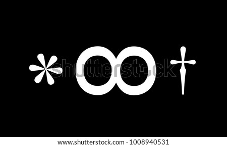 asterisk  lemniscate and dagger