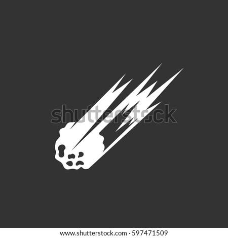asteroid icon illustration