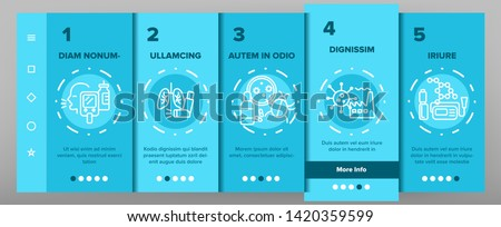 Asthma Illness Vector Onboarding Mobile App Page Screen. Asthma Medical Condition Symptoms. Asthmatic Disease Reasons, Treatment. Viruses Affecting Lungs, Respiratory System Illustration