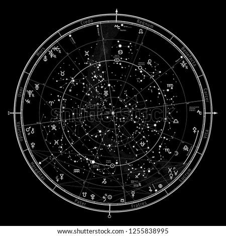 astrological celestial map of