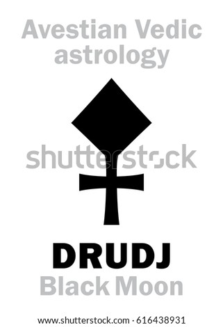 Vector Images, Illustrations and Cliparts: Astrology Alphabet: DRUDJ