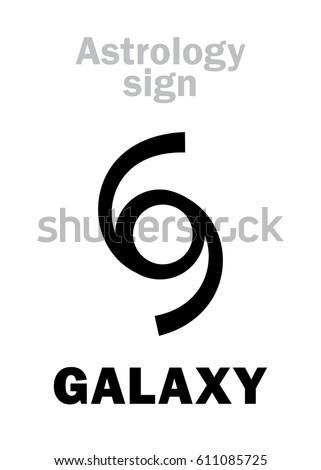 astrology alphabet  galaxy