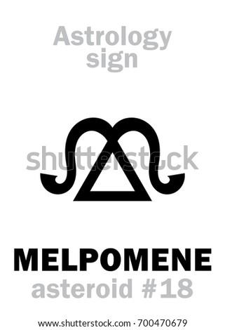 astrology alphabet  melpomene