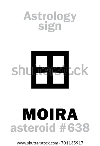 astrology alphabet  moira