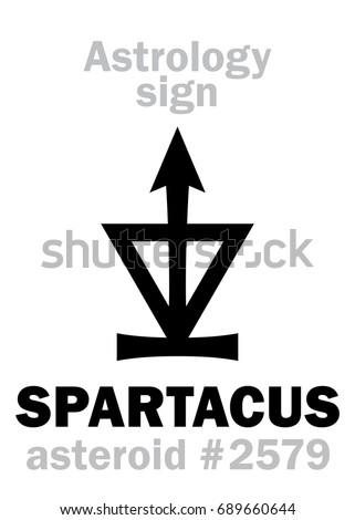 astrology alphabet  spartacus