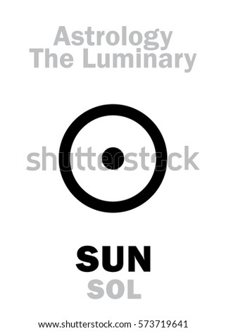 astrology alphabet  sun  sol