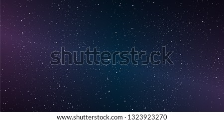 Astrology horizontal background, Star universe background, Milky way galaxy, Vector Illustration.