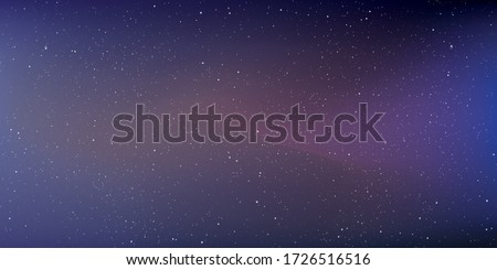 Astrology horizontal star universe background. The night with nebula in the cosmos. Milky way galaxy in the infinity space. Starry night with shiny stars in the gradient sky. Vector illustration.