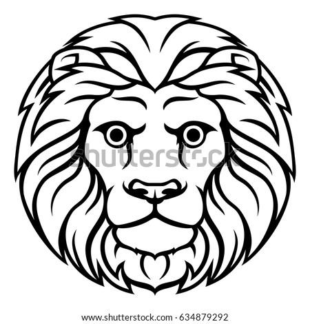 Astrology Horoscope Zodiac Sign Circular Leo Lion Symbol Ez Canvas