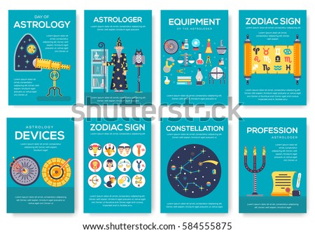 astrology house brochure cards