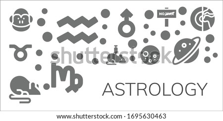 astrology icon set 11 filled