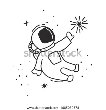 astronaut cartoon in the