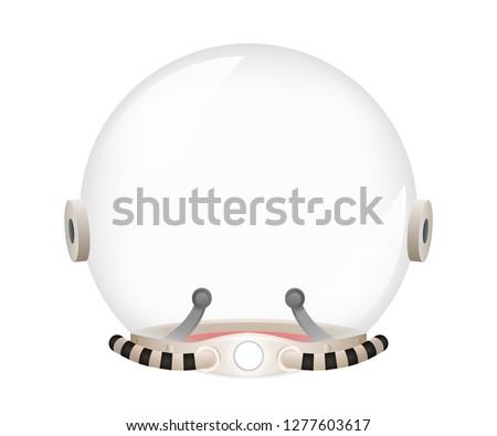 Astronaut cosmonaut helmet tantamareska spaceman retro space sci-fi design vector Illustration