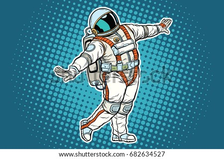 astronaut dancing  funny
