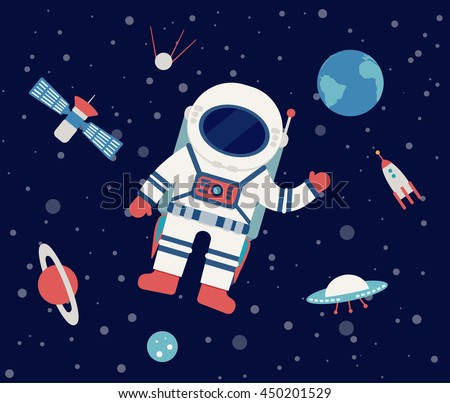 astronaut floating in outer
