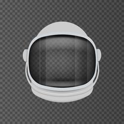 Astronaut helmet equipment isolated on transparent background. Vector illustration. Eps 10.