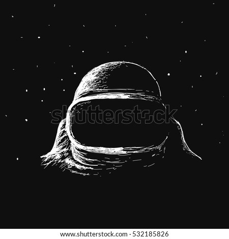 astronaut in outer space.Travel in cosmos.Vector illustration