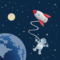 Astronaut in space. Vector