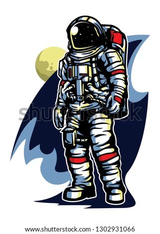 astronaut in space vetor