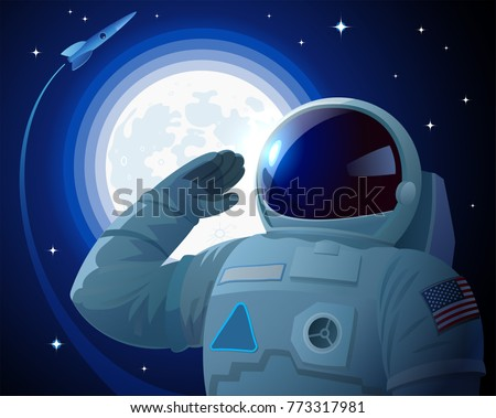 astronaut in the american space