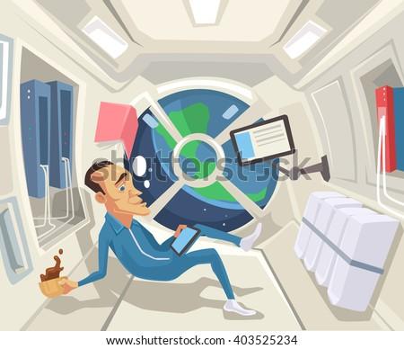 astronaut in zero gravity
