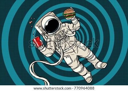 astronaut in zero gravity with