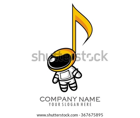 astronaut music player mascot