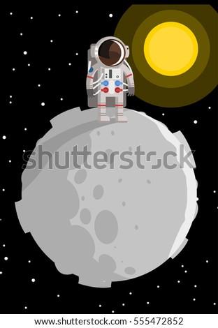astronaut on asteroid tiny