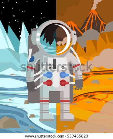 astronaut on hot and cold