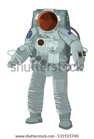 astronaut on spacesuit walking
