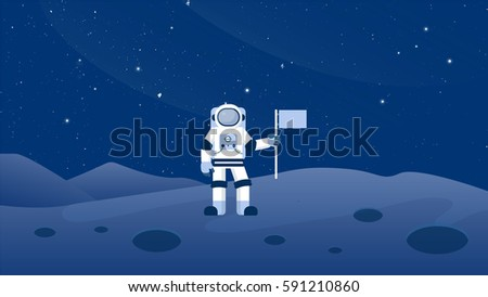 astronaut on the moon surface