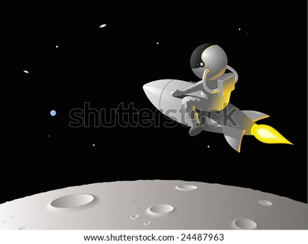 astronaut clip art. stock vector : Astronaut or