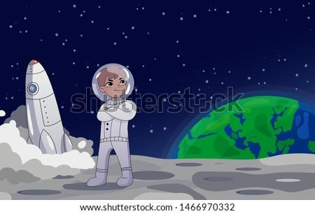 astronaut or cosmonaut standing