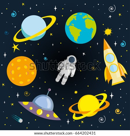 astronaut  planets and space